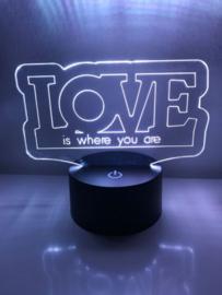 LED Lamp LOVE met Eigen Tekst