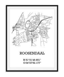 Plattegrond Roosendaal - Lijntekening