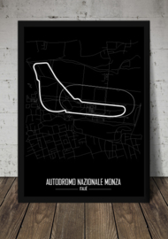 Circuit Monza Poster - Minimalistisch