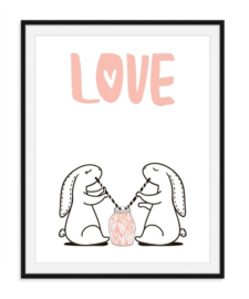 Liefde is samen delen poster - nummer 1