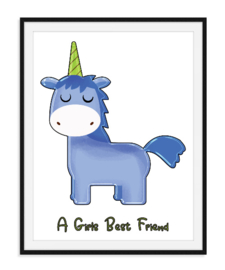 Unicorn girls best friend - Poster