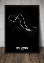 Sochi Autodrom Poster - Minimalistisch