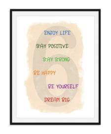 Zes wijze raden voor het leven - Poster