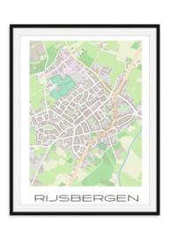 Plattegrond Rijsbergen - Kleur