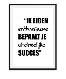 Je eigen enthousiasme - Poster