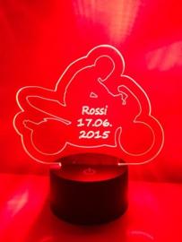 LED Lamp Motorbike met Naam + Datum
