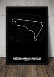 Autodromo Hermanos Rodriquez Poster - Minimalistisch