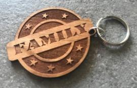 Sleutelhanger FAMILY met tot 4 namen