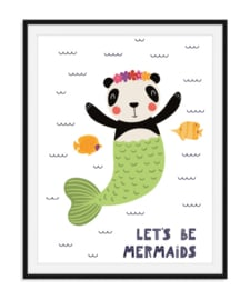 Let's be mermaids - Zomerse poster