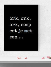 Ork Ork Ork, soep - Poster