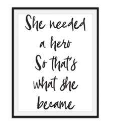 Zij werd een held - poster