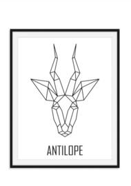 Antilope poster - Geometrisch