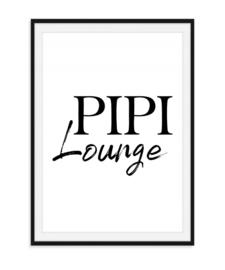 Pipi Lounge - Toiletposter