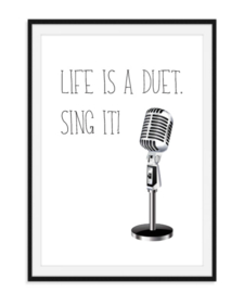 Life is a duet - poster