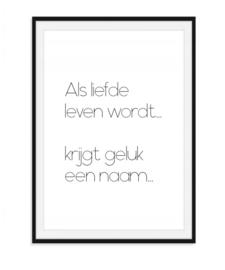 Als liefde leven wordt - Poster