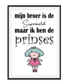 Superheld Prinses - Kinderkamer poster