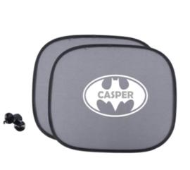 Zonnescherm met naam in batman logo - Autoaccessoire