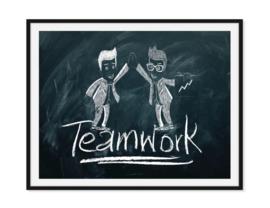 Teamwork - Kantoor poster