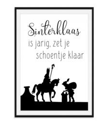 Sinterklaas is jarig - Poster
