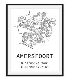 Plattegrond Amersfoort - Lijntekening