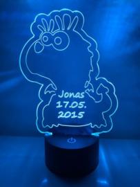 LED Lamp Lief Draakje met Naam + Datum