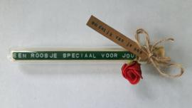 Een roosje speciaal voor jou - Flessenpost