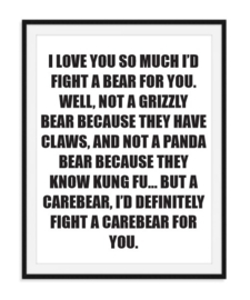 Grizzly beer - Tekstposter