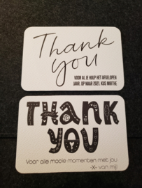 Thank you kaartje - Gratis