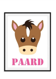 Paard poster met naam naar keuze