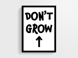 Don't grow up - Poster