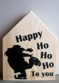 Kerstmis huisje Happy ho ho ho