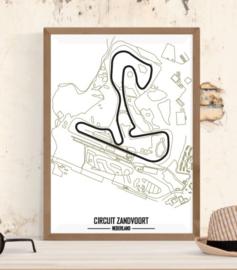 Circuit Zandvoort Poster - Minimalistisch