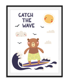Catch the wave - Zomerse poster