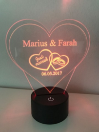 LED Lamp Just Married 2