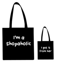 Set moeder en dochter tas shopaholic