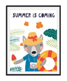 Summer is coming - Zomerse poster