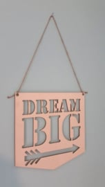 Dream Big houten bord