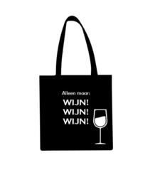 Katoenen draagtas Alleen maar wijn