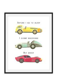 Raceauto's tellen geen schapen - Poster