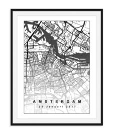 Plattegrond Amsterdam - Lijntekening doorlopend