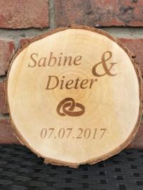 Boomschijf Namen met Ringen en Datum