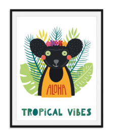 Tropical vibes - Zomerse poster