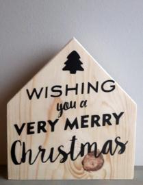 Kerstmis huisje wishing you...