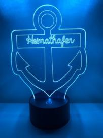 LED Lamp Anker met Eigen Tekst