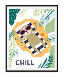 Chillen op het strand - Zomerse poster