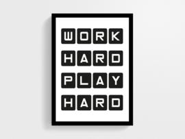 Work hard play hard - Poster
