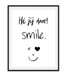 Vrolijke smile poster