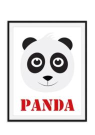 Pandabeer poster met naam naar keuze
