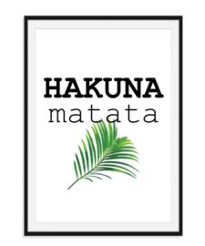 Hakuna Matata met blad - Poster