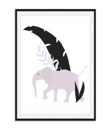 Jungle poster - Olifant